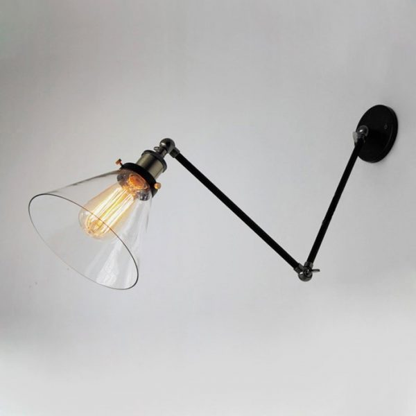 sconce lamp industrial arm mid wall century modern swing enchanting bathroom