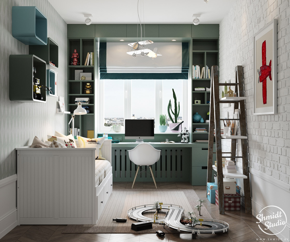 A Scandinavian Chic Style 3 Bedroom Apartment For A Young Family images 24