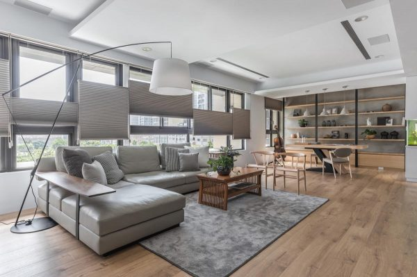 Open Plan Home Decor With Interesting Layers
