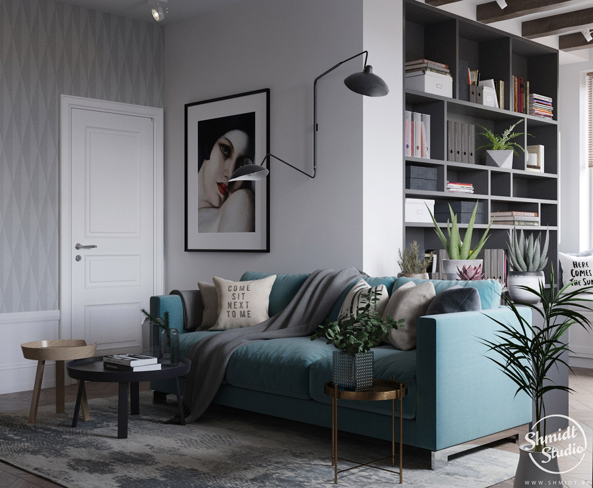 A Scandinavian Chic Style 3 Bedroom Apartment For A Young Family images 2