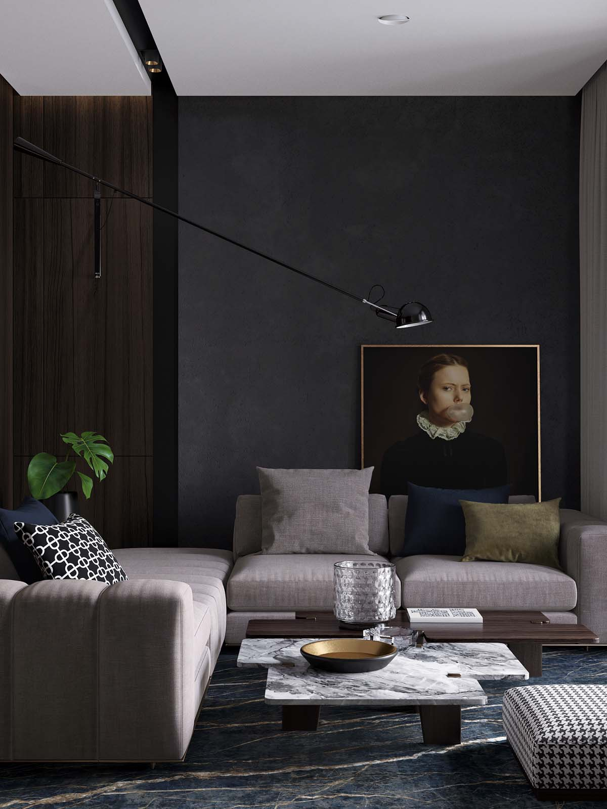 Using Dark Color Schemes For Small Homes: 3 Examples With Floor Plans images 1