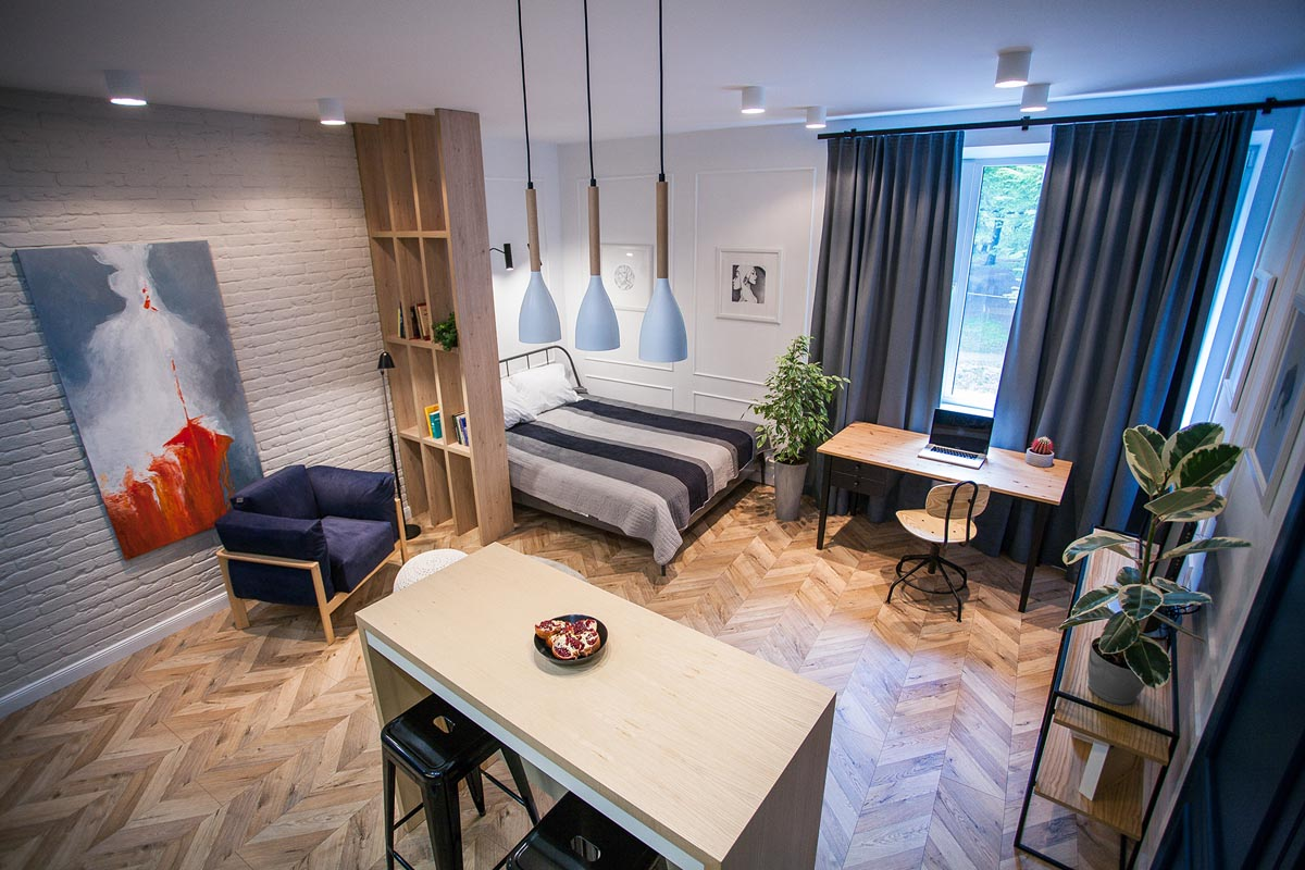 3 Modern Small Apartment Designs Under 50 Square Meters That Don't Sacrifice On Style [Includes Floor Plans] images 13