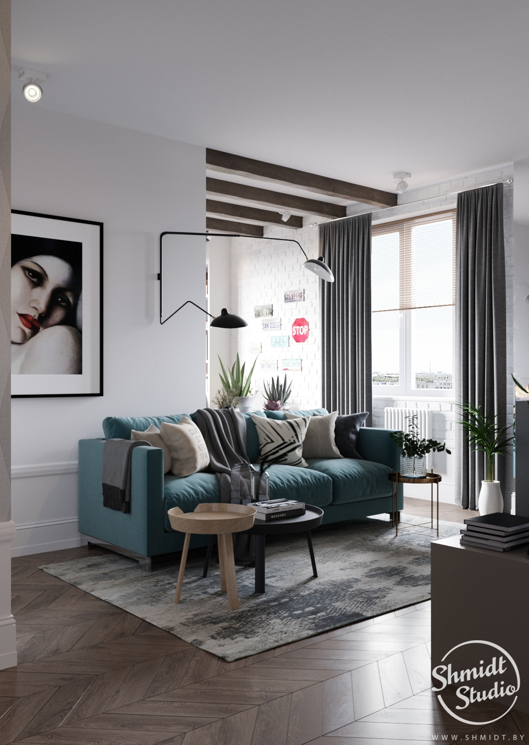 A Scandinavian Chic Style 3 Bedroom Apartment For A Young Family images 1