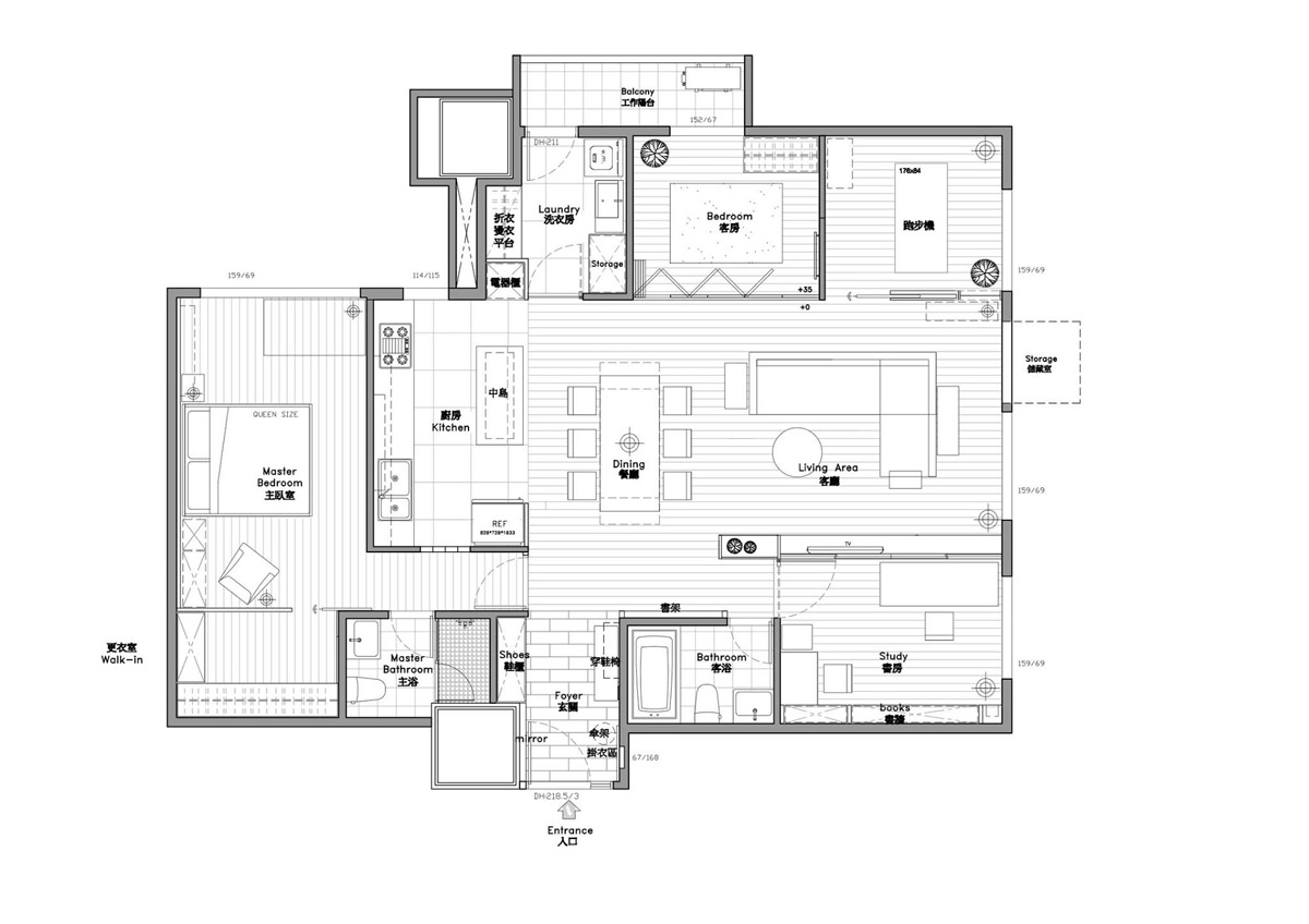 A Soothing, Earthy Color Scheme for a 3 Bedroom Home With Study [Includes Floor Plans] images 16