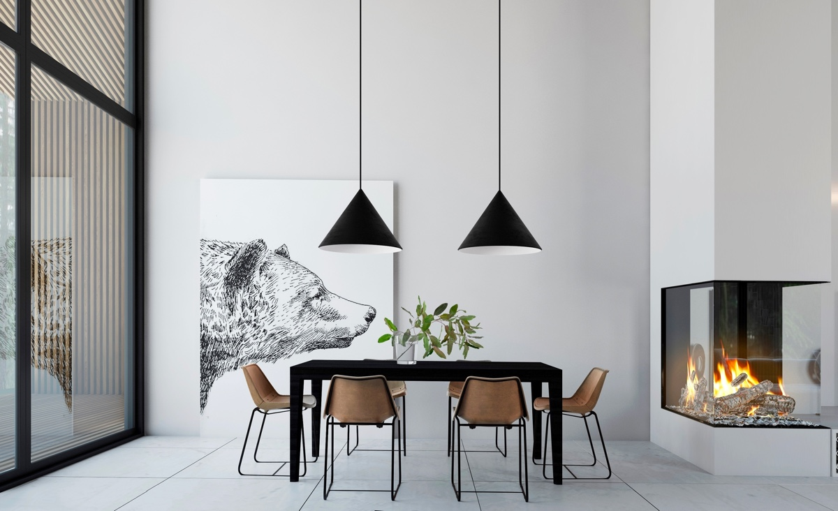 40 minimalist dining rooms to leave you hungry for style for Minimalist wall decor ideas