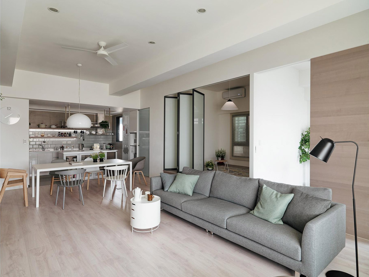 A Soothing Earthy Color Scheme for a 3 Bedroom Home With
