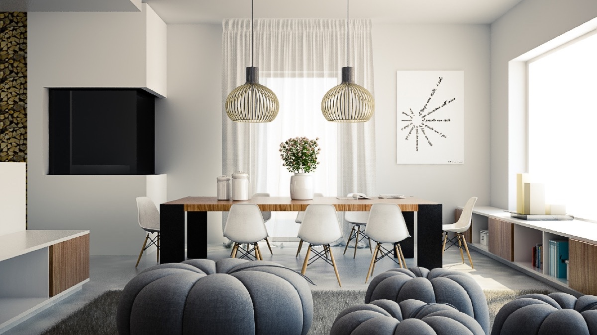 40 Minimalist Dining Rooms That Will Leave You Hungry to Copy Their Style images 27