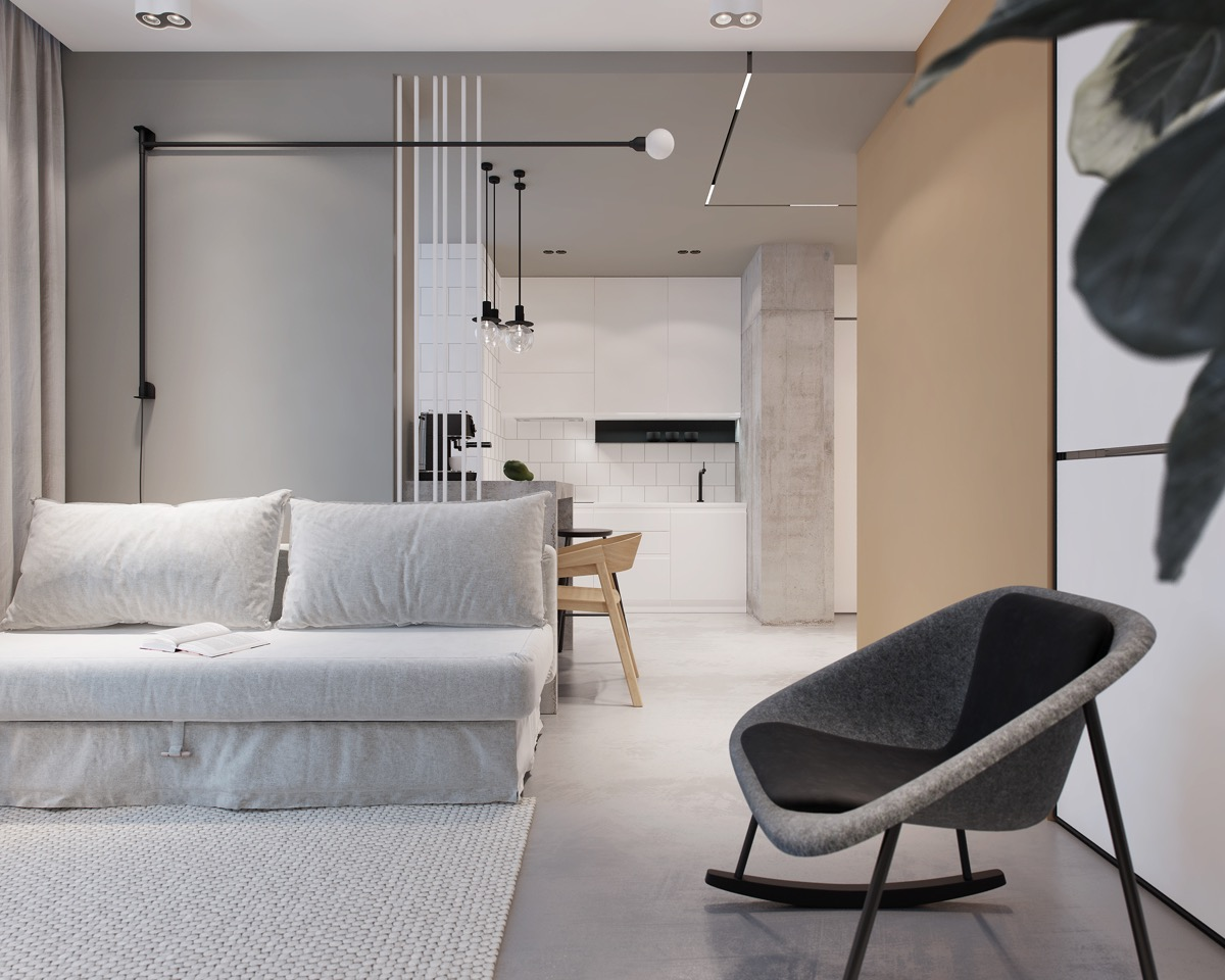 Modest Size Modern Interiors That Flirt With Feature Walls images 21