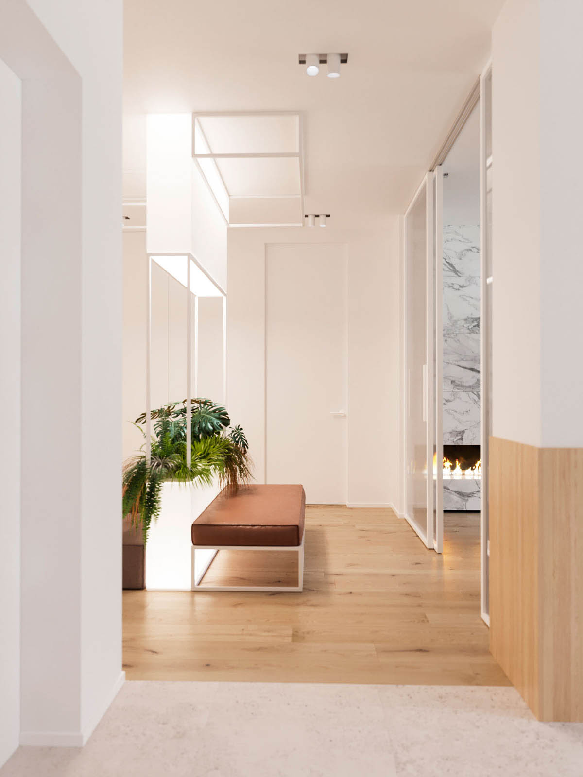 Functional Minimalist Home With Brave Colours And Bespoke Installations images 23