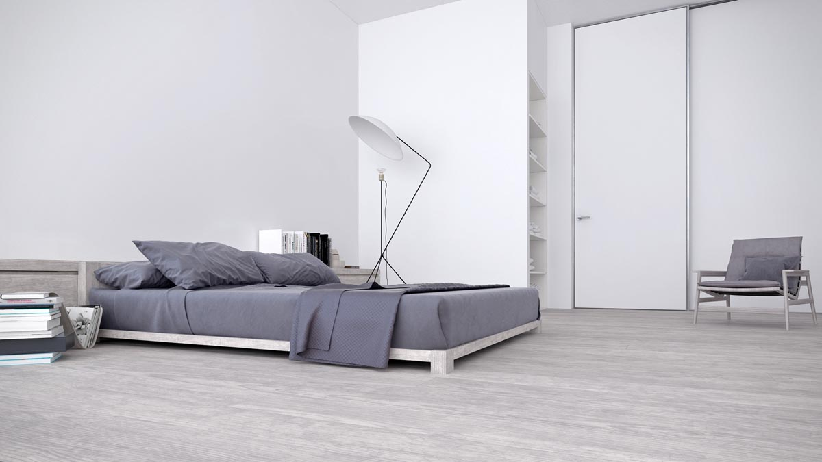 White & Grey Interior Design In The Modern Minimalist Style images 14