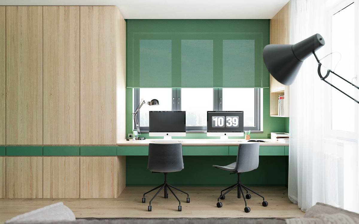 Functional Minimalist Home With Brave Colours And Bespoke Installations images 12