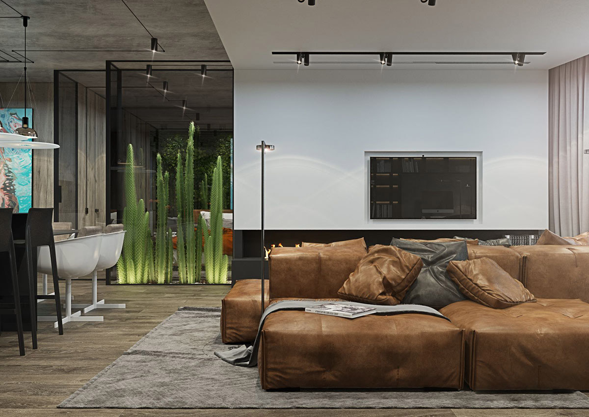 Living Rooms With Brown Sofas: Tips And Inspiration For Decorating Them images 2