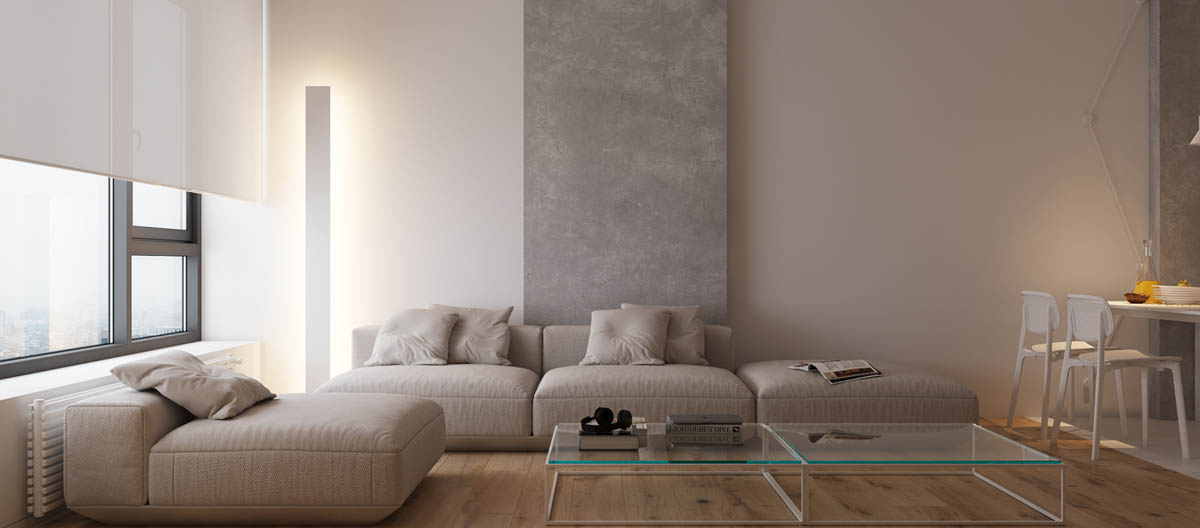 Modest Size Modern Interiors That Flirt With Feature Walls images 2