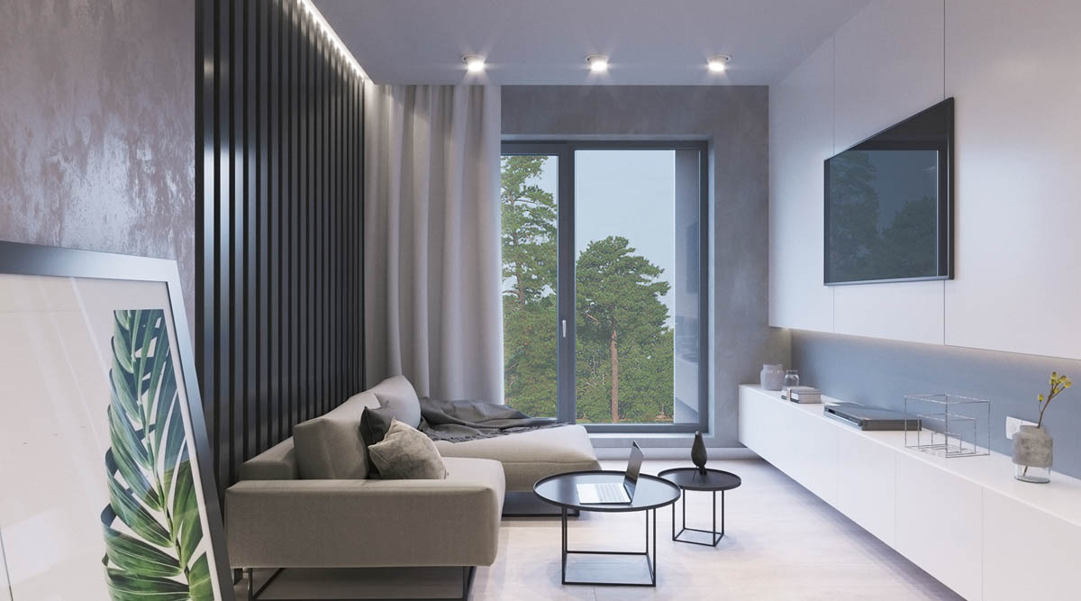 Modest Size Modern Interiors That Flirt With Feature Walls images 15