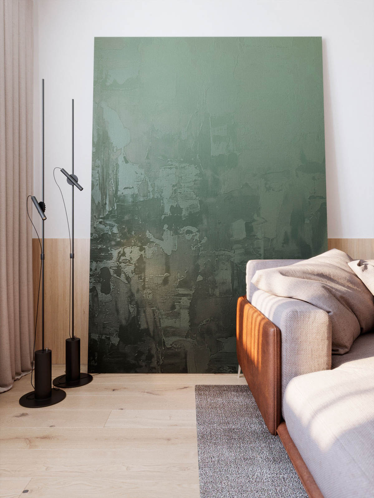 Functional Minimalist Home With Brave Colours And Bespoke Installations images 6