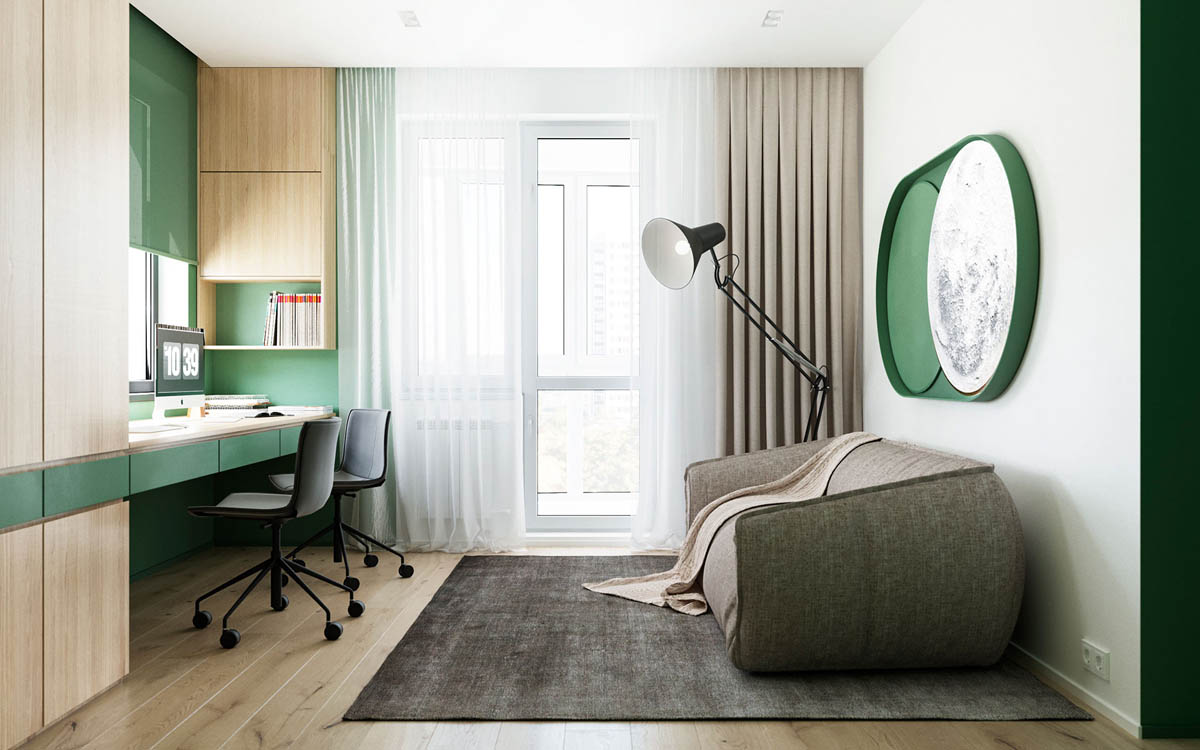 Functional Minimalist Home With Brave Colours And Bespoke Installations images 11