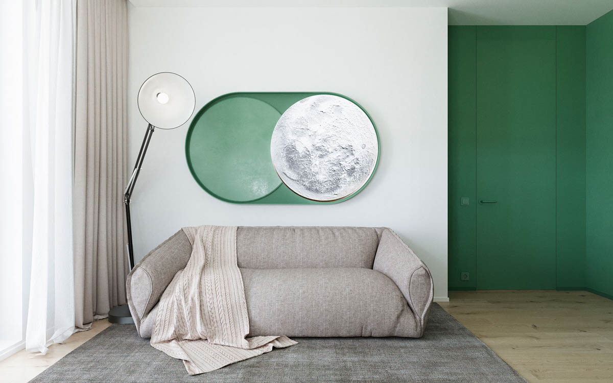 Functional Minimalist Home With Brave Colours And Bespoke Installations images 13