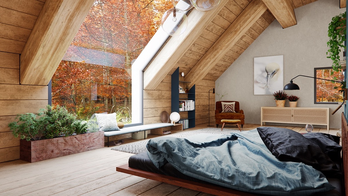 A Cozy Modern Rustic Cabin In The Trees images 12