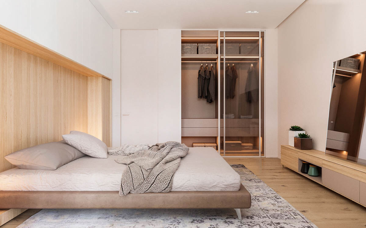 Functional Minimalist Home With Brave Colours And Bespoke Installations images 16