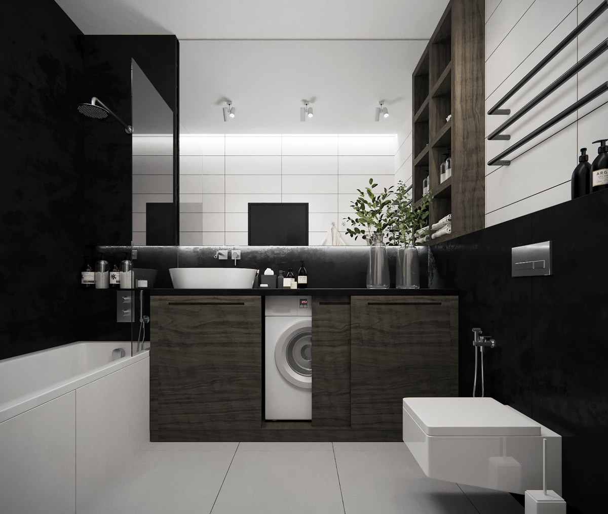 Gray Bathroom Ideas Interior Design ~ Modern minimalist style bathrooms