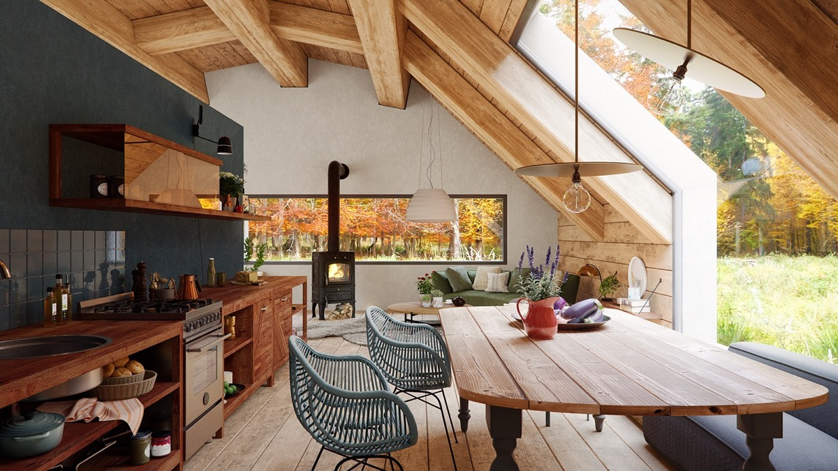 A Cozy Modern Rustic Cabin In The Trees images 5