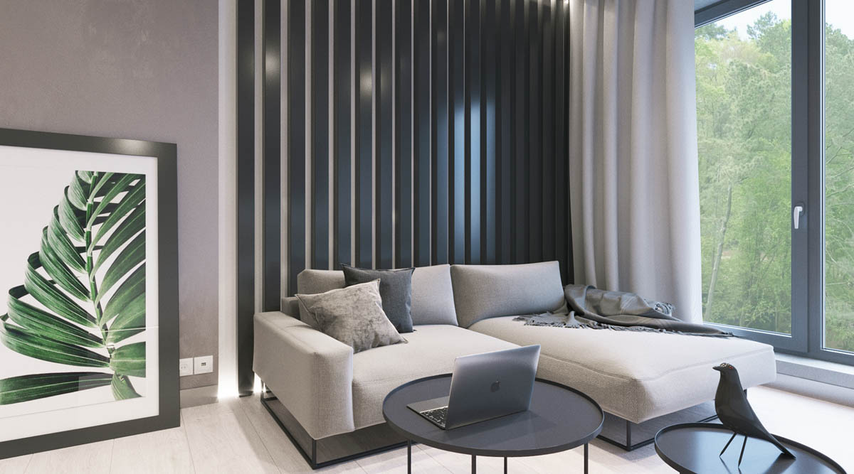 Modest Size Modern Interiors That Flirt With Feature Walls images 14