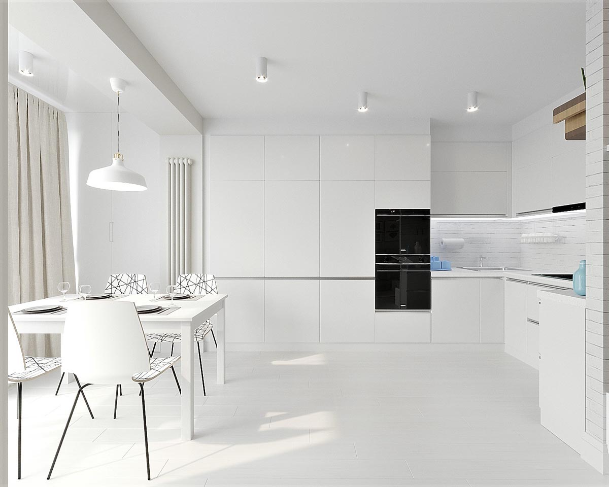. White   Grey Interior Design In The Modern Minimalist Style