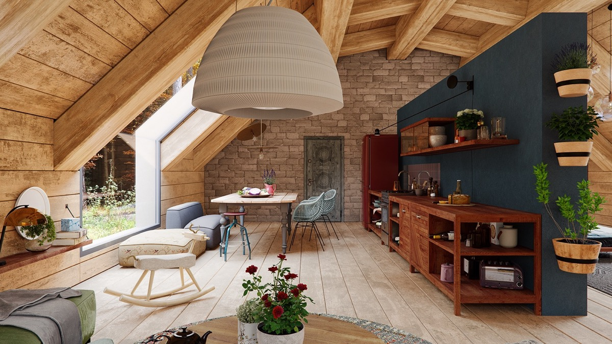 A Cozy Modern Rustic Cabin In The Trees images 4