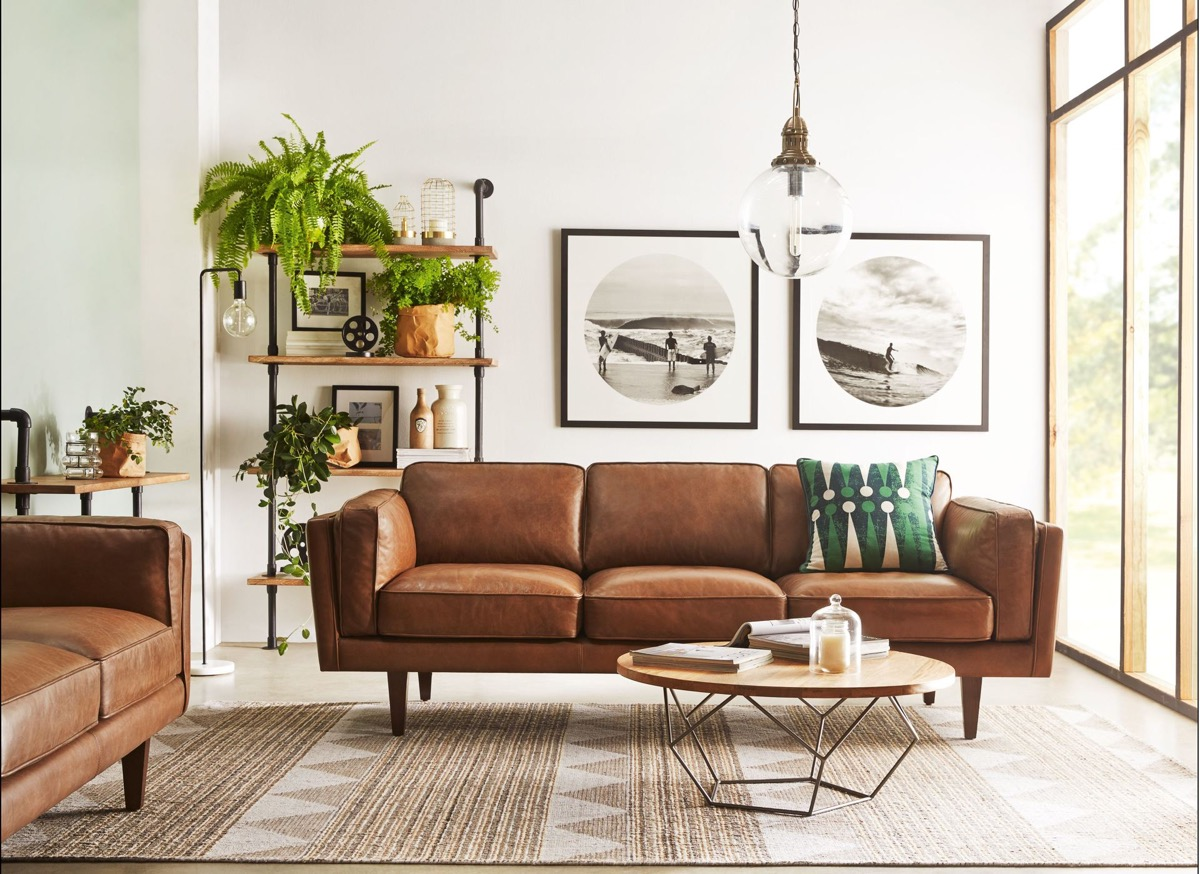 30 mesmerizing mid century modern living rooms and their - Leather furniture for small living room ...