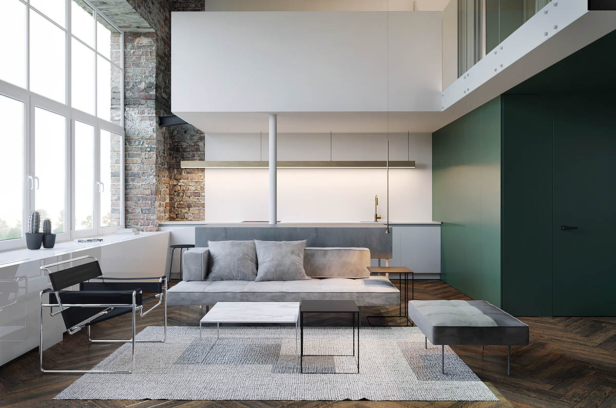 Three Homes Using Exposed Brick, Wood Panelling and Grey To Their Advantage images 11