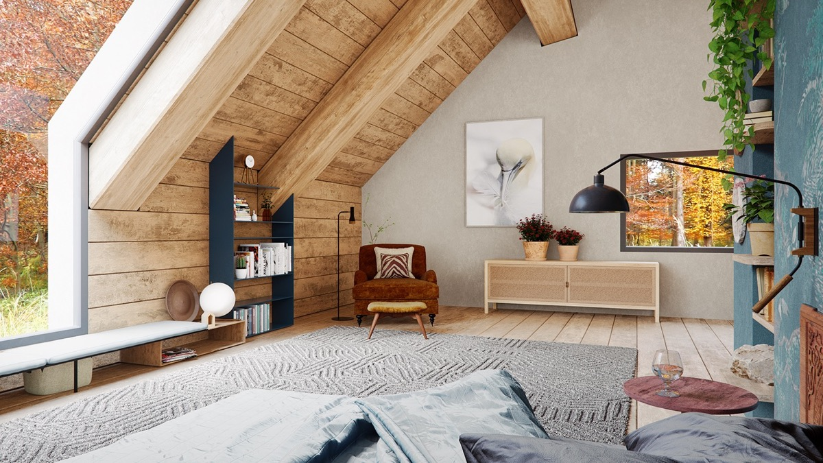 A Cozy Modern Rustic Cabin In The Trees images 13