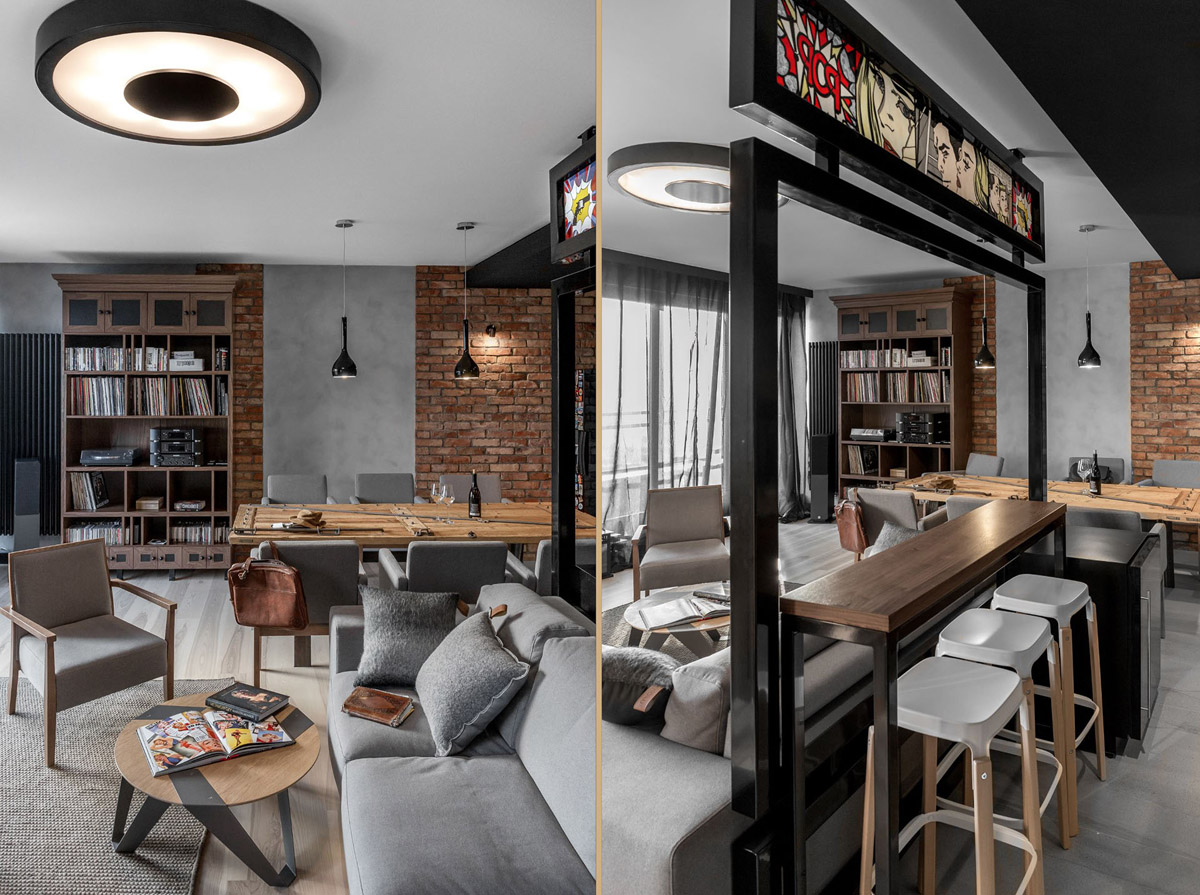 Three Homes Using Exposed Brick, Wood Panelling and Grey To Their Advantage images 24