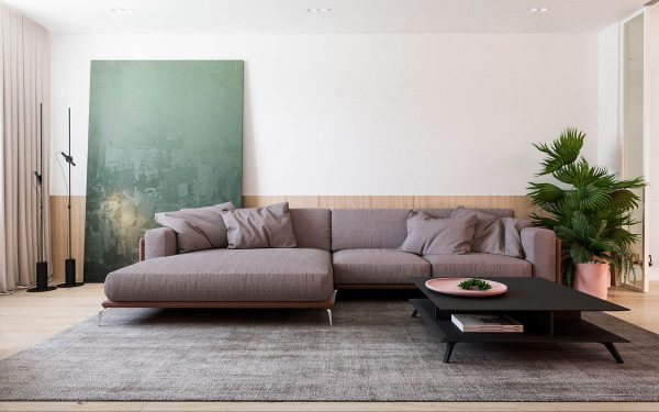 Functional Minimalist Home With Brave Colours And Bespoke Installations