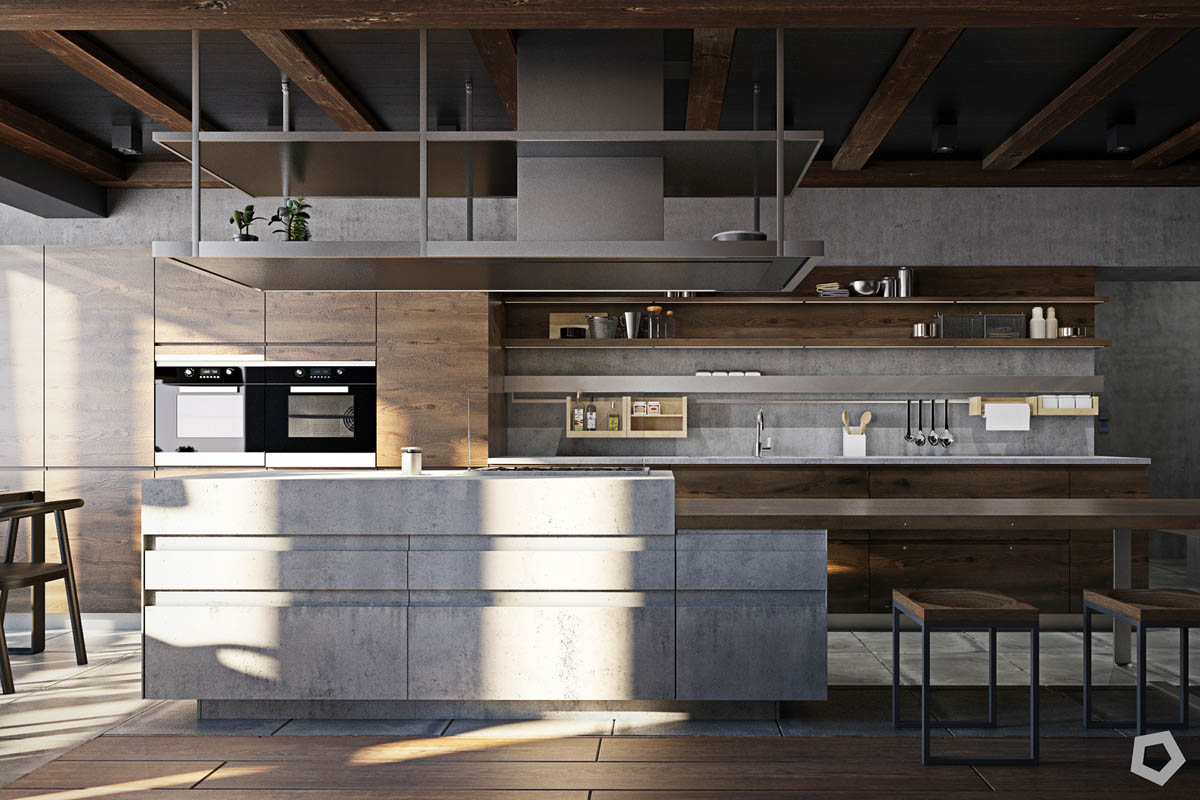 Three Homes Using Exposed Brick, Wood Panelling and Grey To Their Advantage images 4