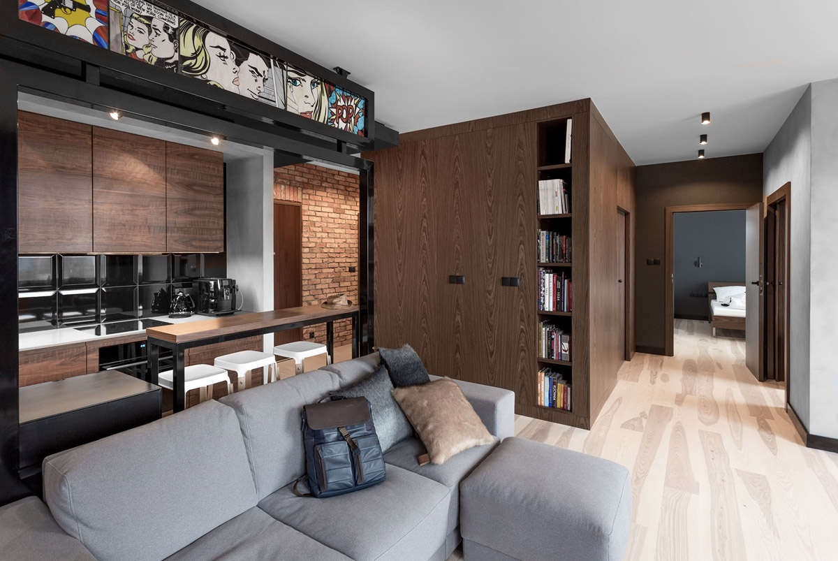 Three Homes Using Exposed Brick, Wood Panelling and Grey To Their Advantage images 23