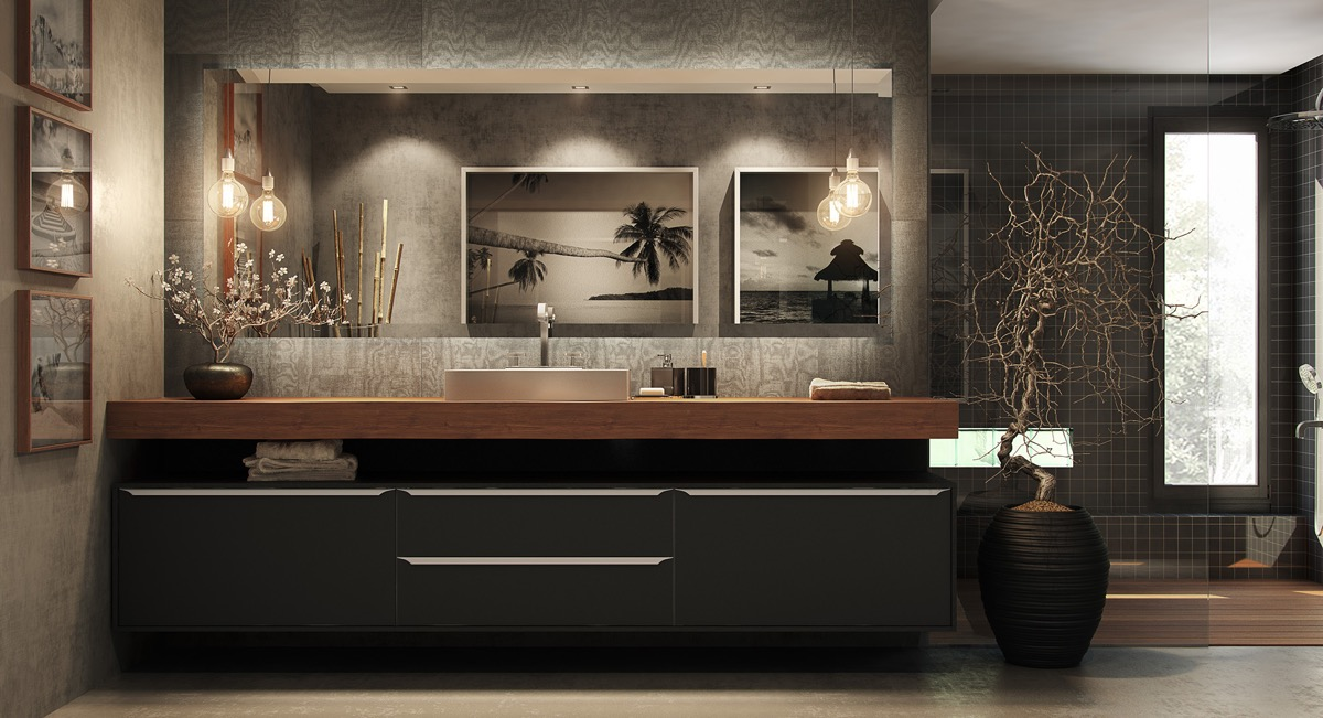 40 Modern Bathroom Vanities That Overflow With Style images 20
