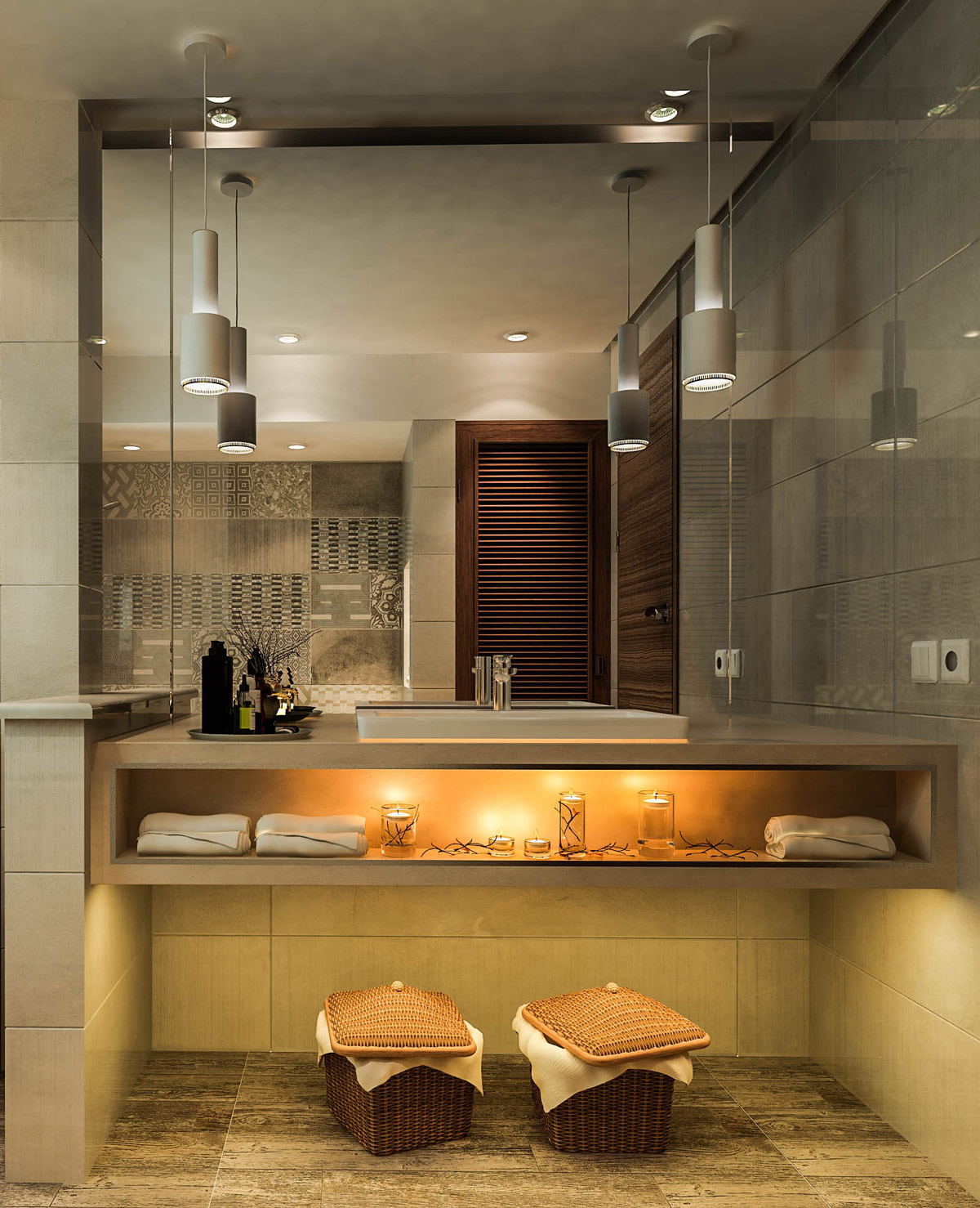 40 modern bathroom vanities that overflow with style for Photos of contemporary bathrooms