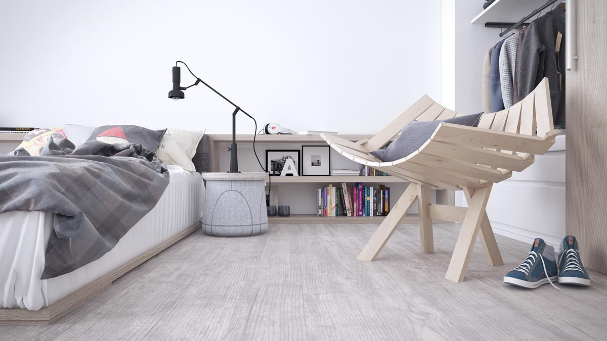 White & Grey Interior Design In The Modern Minimalist Style images 12
