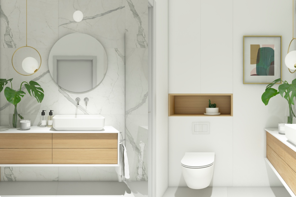 40 modern minimalist style bathrooms for Modern minimalist interior design style