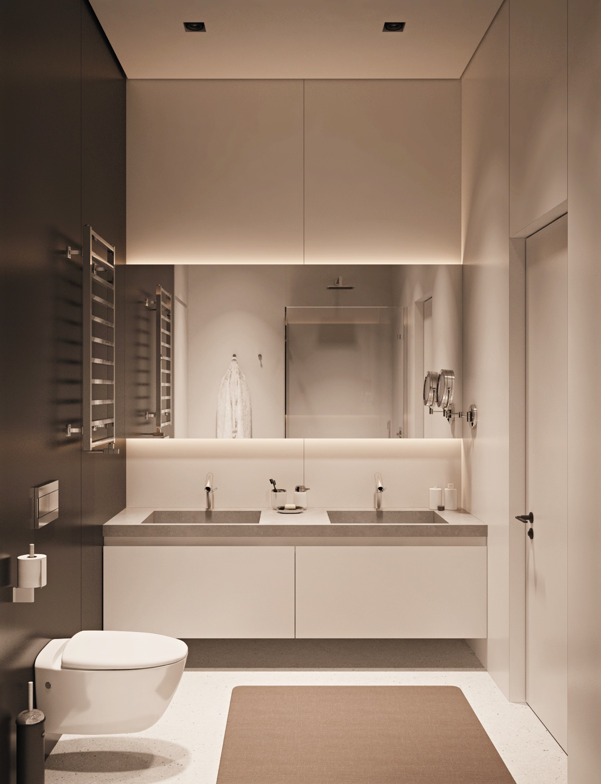 40 modern minimalist style bathrooms for Minimalist small bathroom design