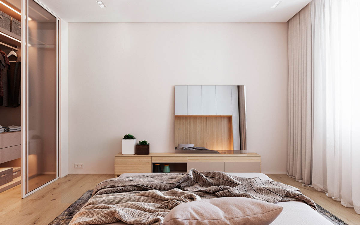 Functional Minimalist Home With Brave Colours And Bespoke Installations images 17