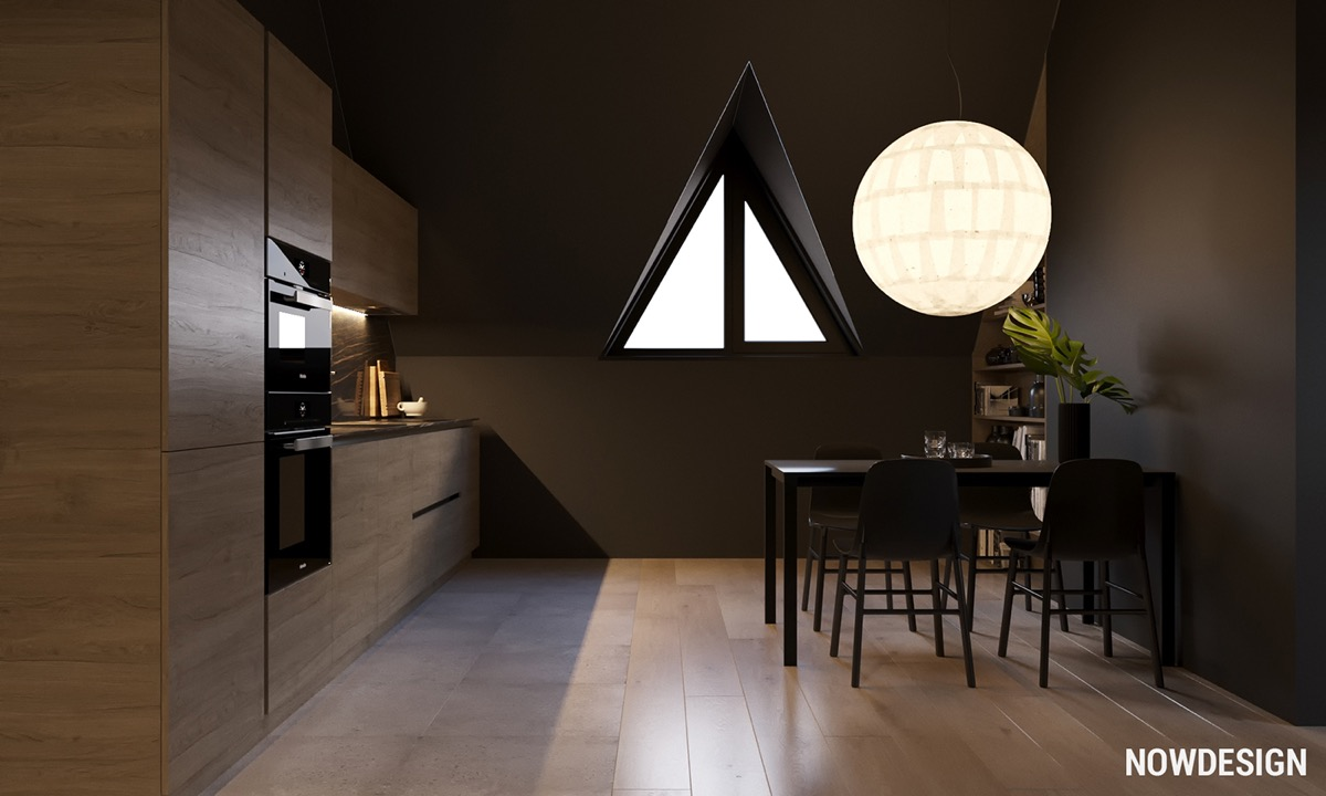Go Black or White In These Two Sloped Ceiling Apartments images 19