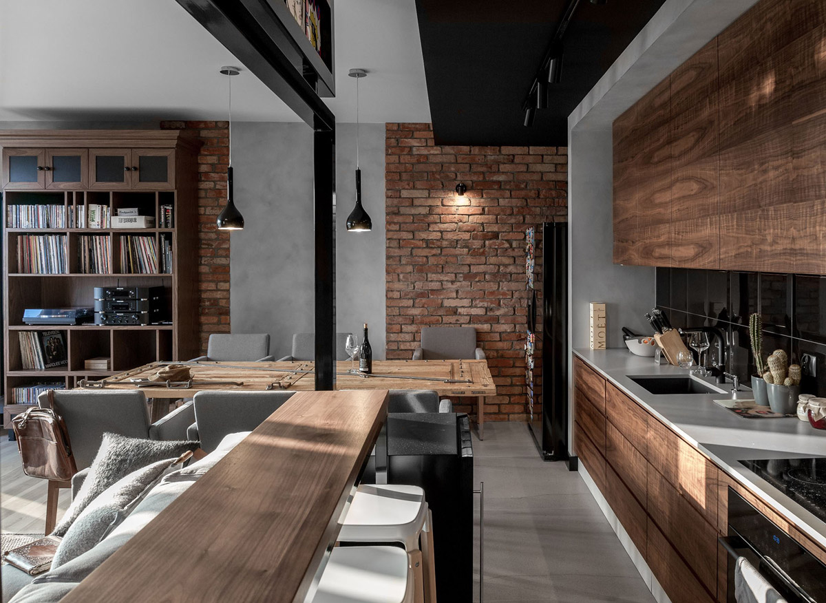 Three Homes Using Exposed Brick, Wood Panelling and Grey To Their Advantage images 27