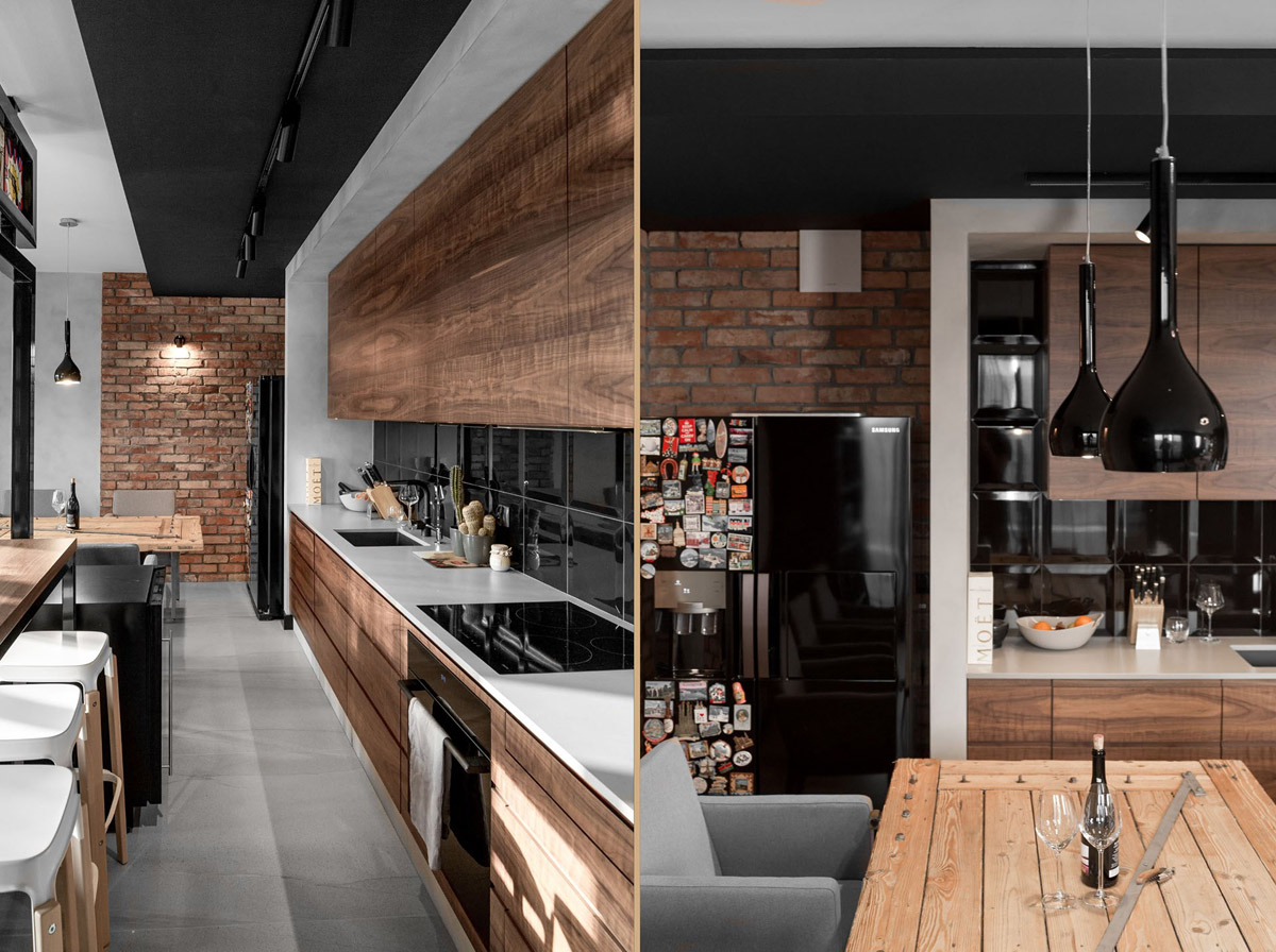 Three Homes Using Exposed Brick, Wood Panelling and Grey To Their Advantage images 28