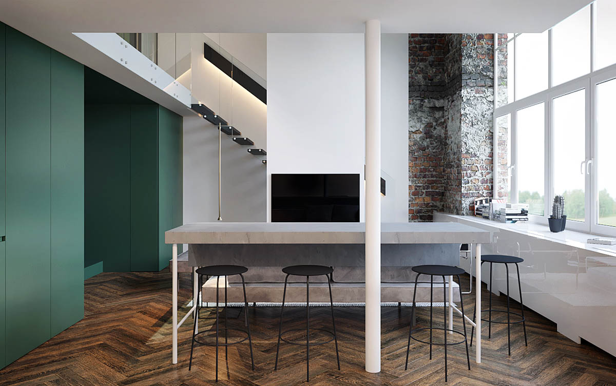 Three Homes Using Exposed Brick, Wood Panelling and Grey To Their Advantage images 14