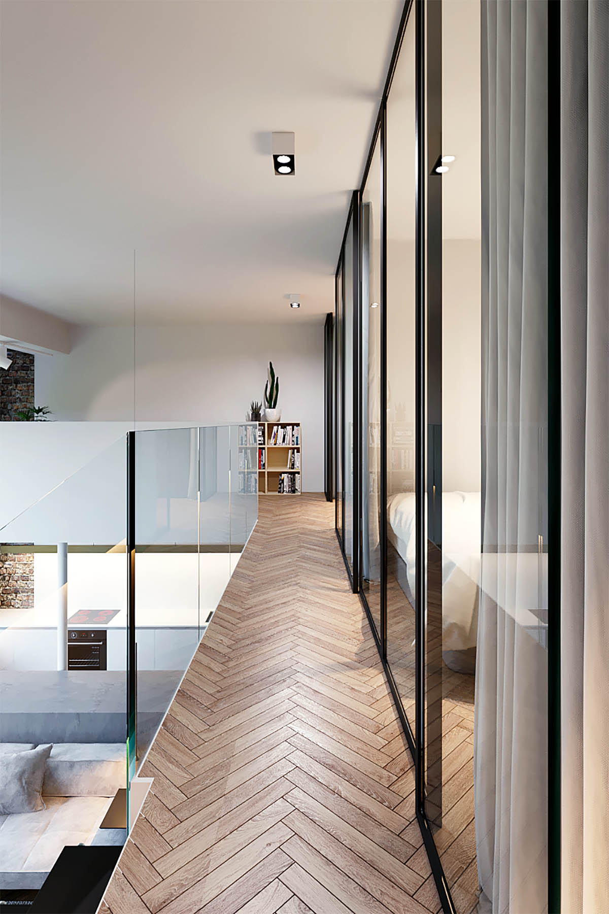 Three Homes Using Exposed Brick, Wood Panelling and Grey To Their Advantage images 17