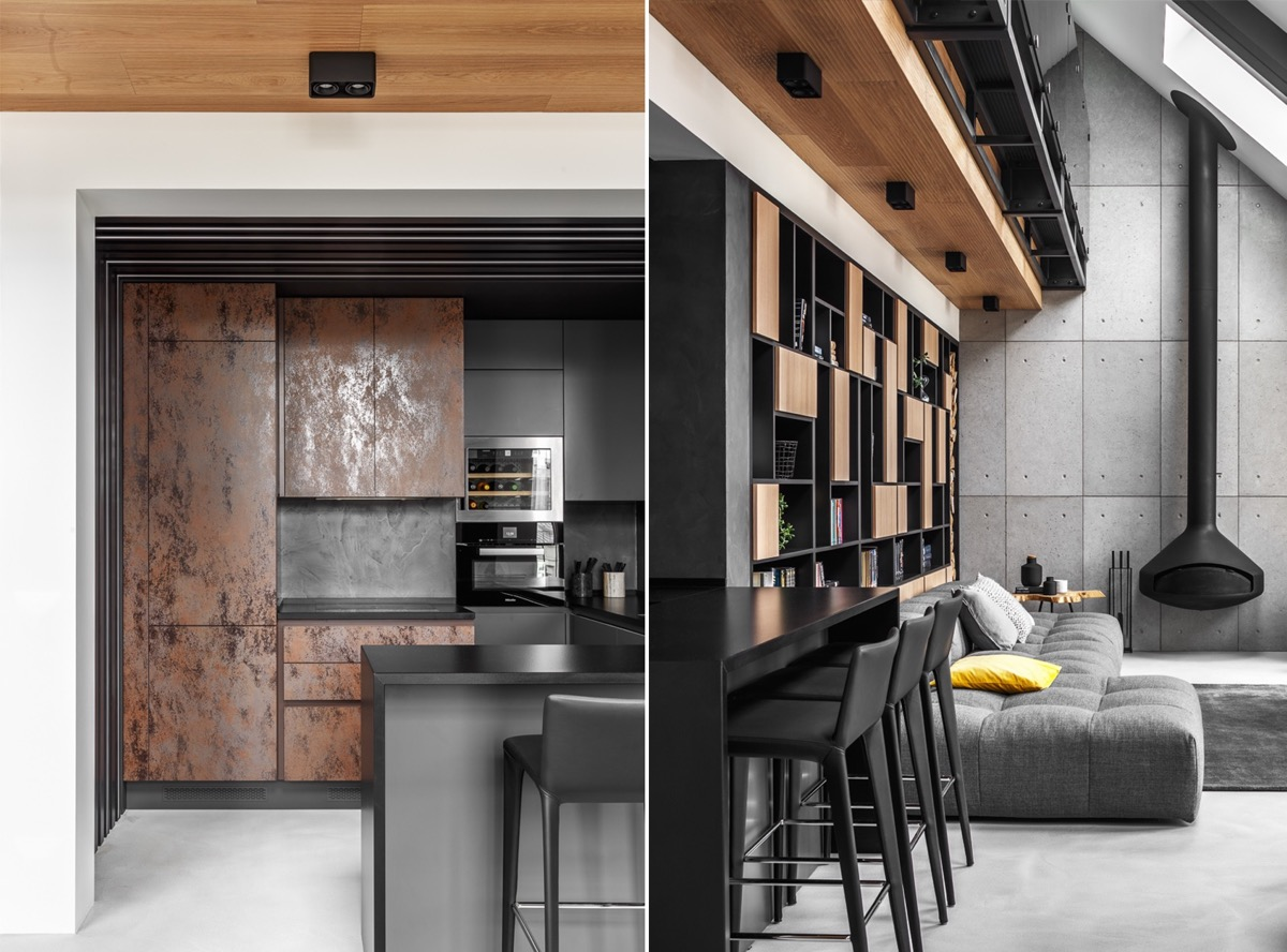 2 Gorgeous Attic Apartments That Use Grey As Base images 24
