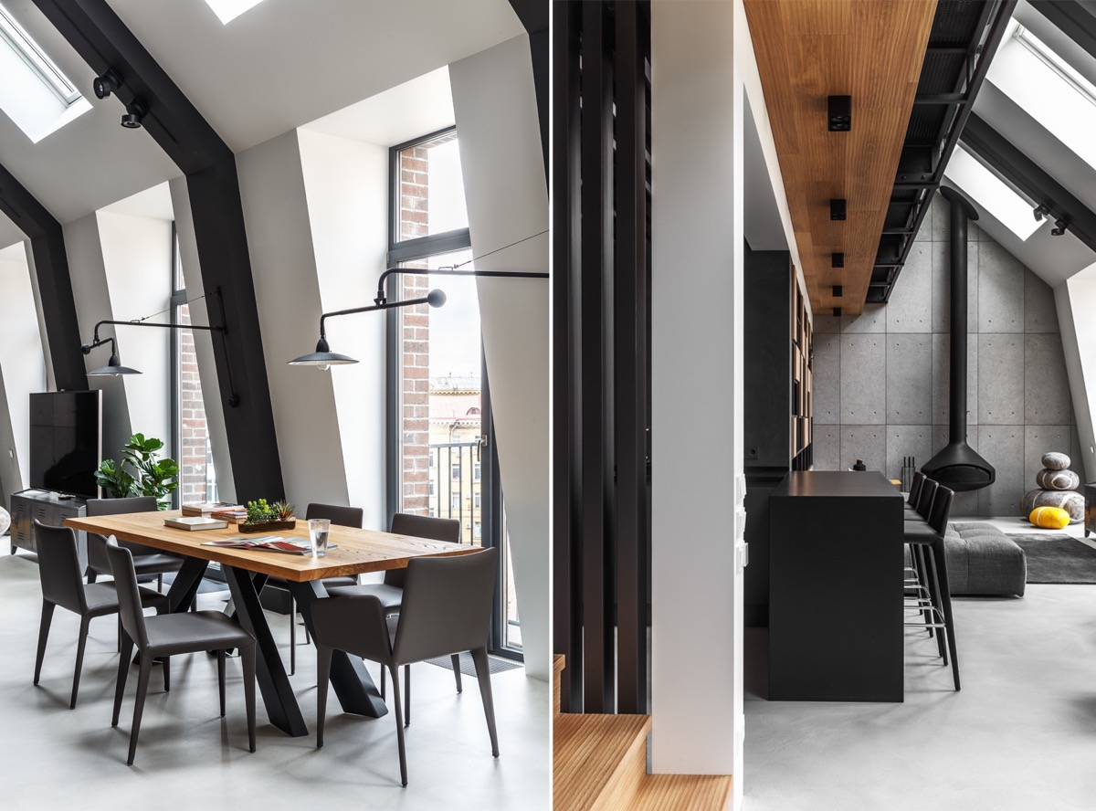 2 Gorgeous Attic Apartments That Use Grey As Base images 21