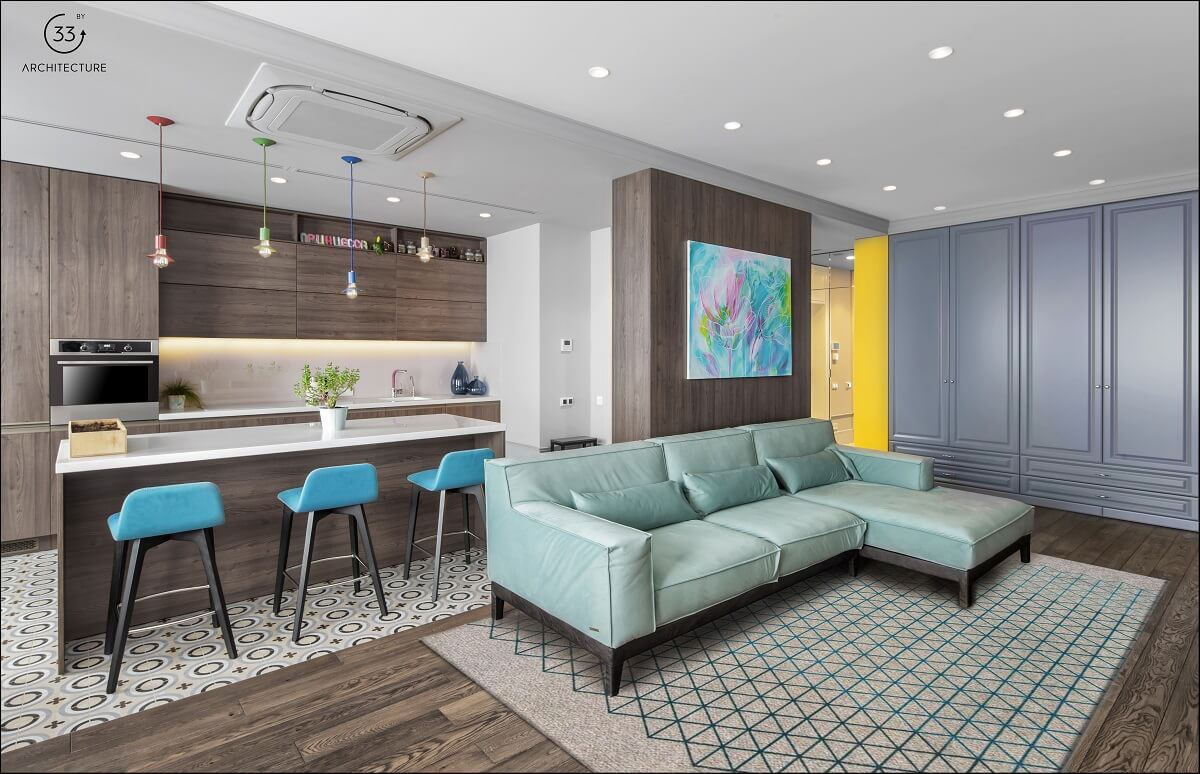 Apartment With Energised Colour Scheme images 2