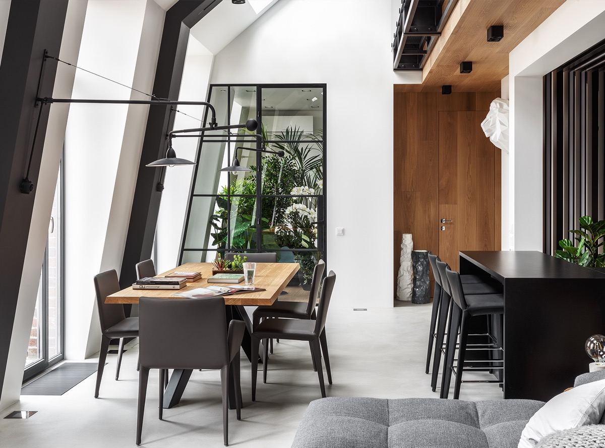 2 Gorgeous Attic Apartments That Use Grey As Base images 22